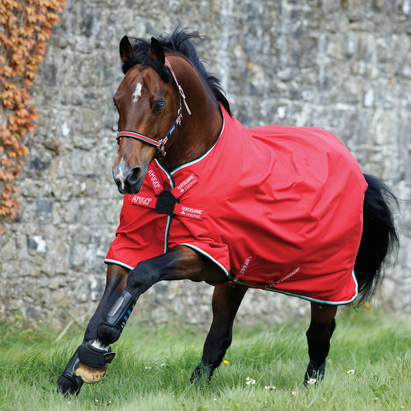 Horseware Amigo Hero ACY Lite 0g Turnout Rug with Disc Front Closure Red Net Lining AAKA8N