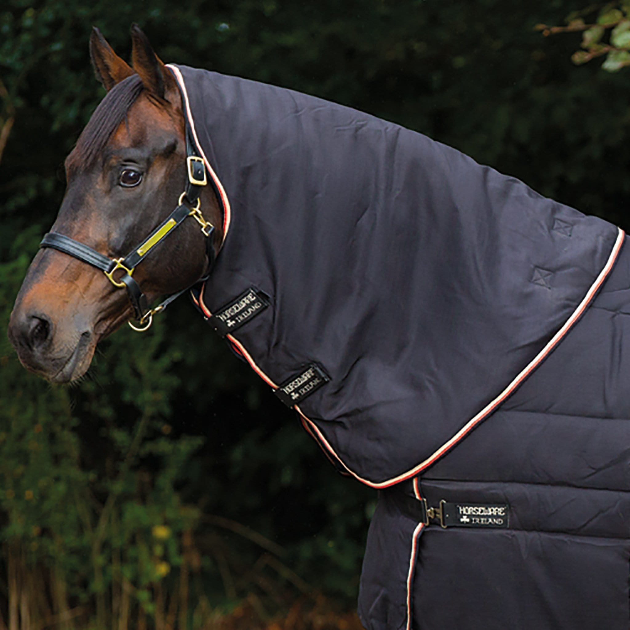 Horseware Rambo Optimo Stable Hood Black ABAFN2