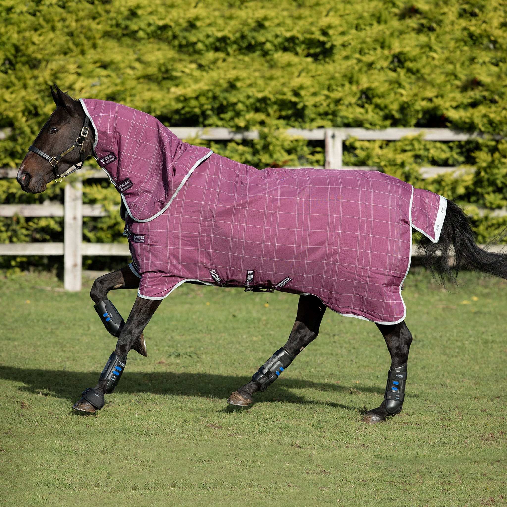 Rhino Plus With Vari-Layer Heavyweight 450g Detachable Neck Turnout Rug AABPV4.