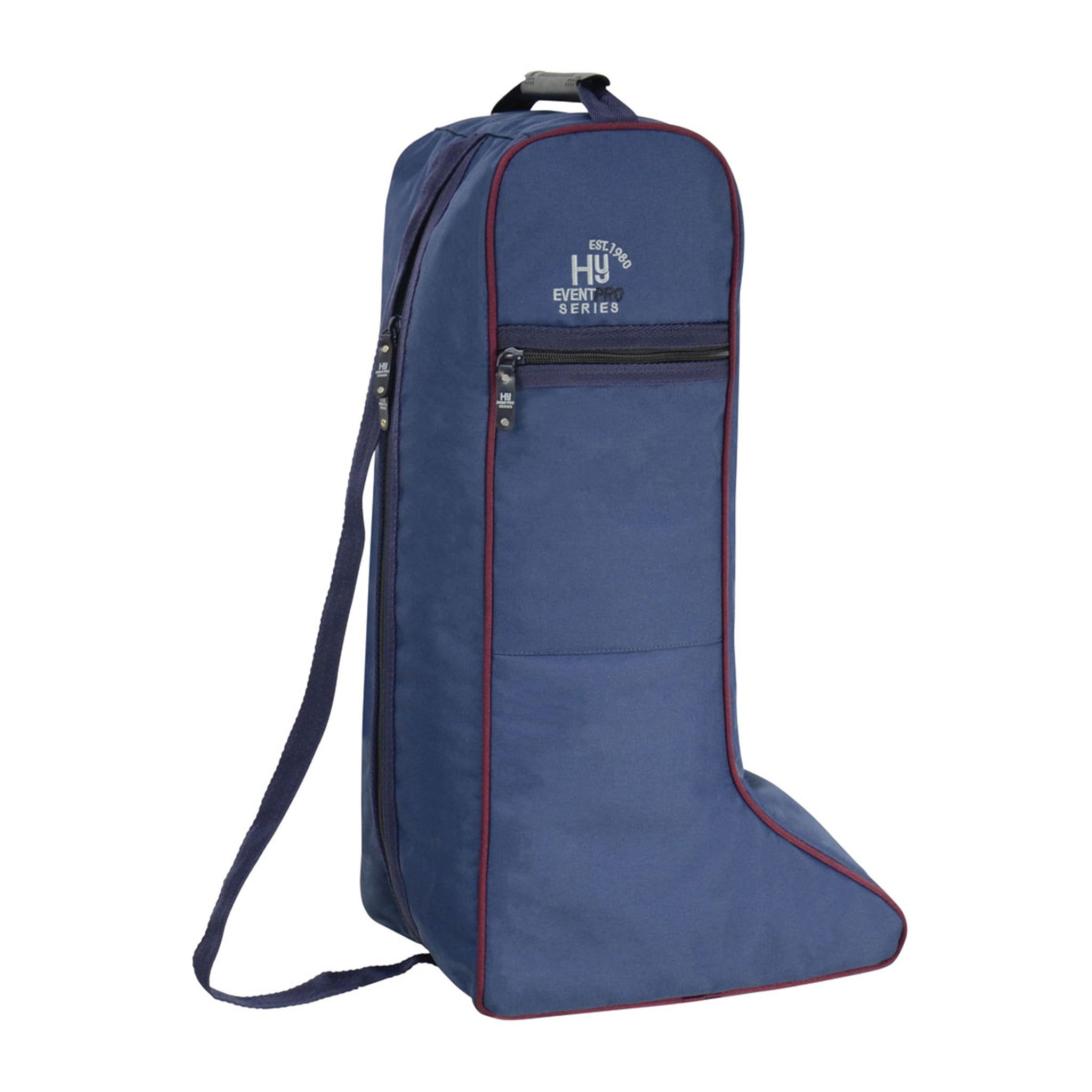 Hy Event Pro Series Boot Bag 16862 Navy and Burgundy
