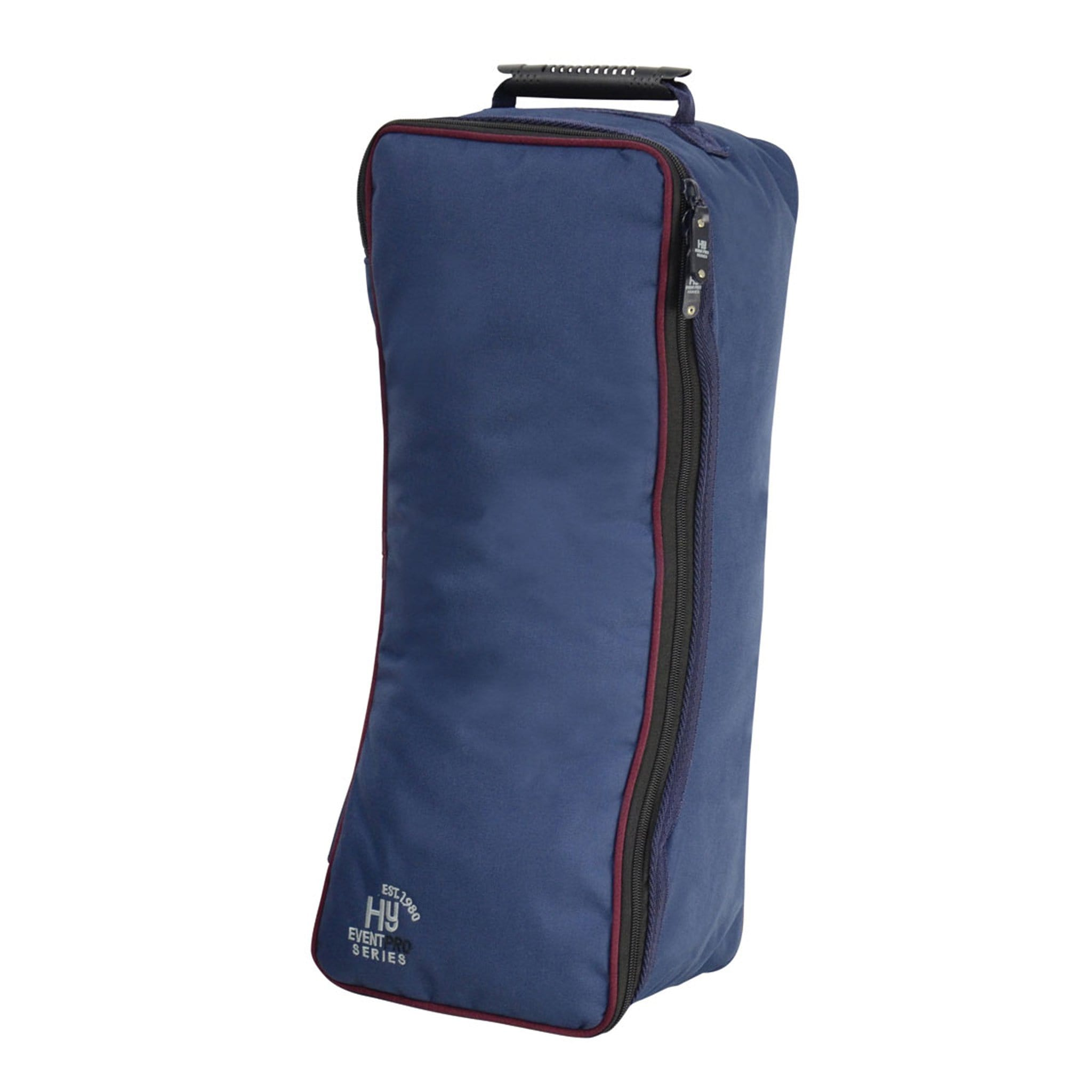 Hy Event Pro Series Bridle Bag 16871 Navy and Burgundy Front