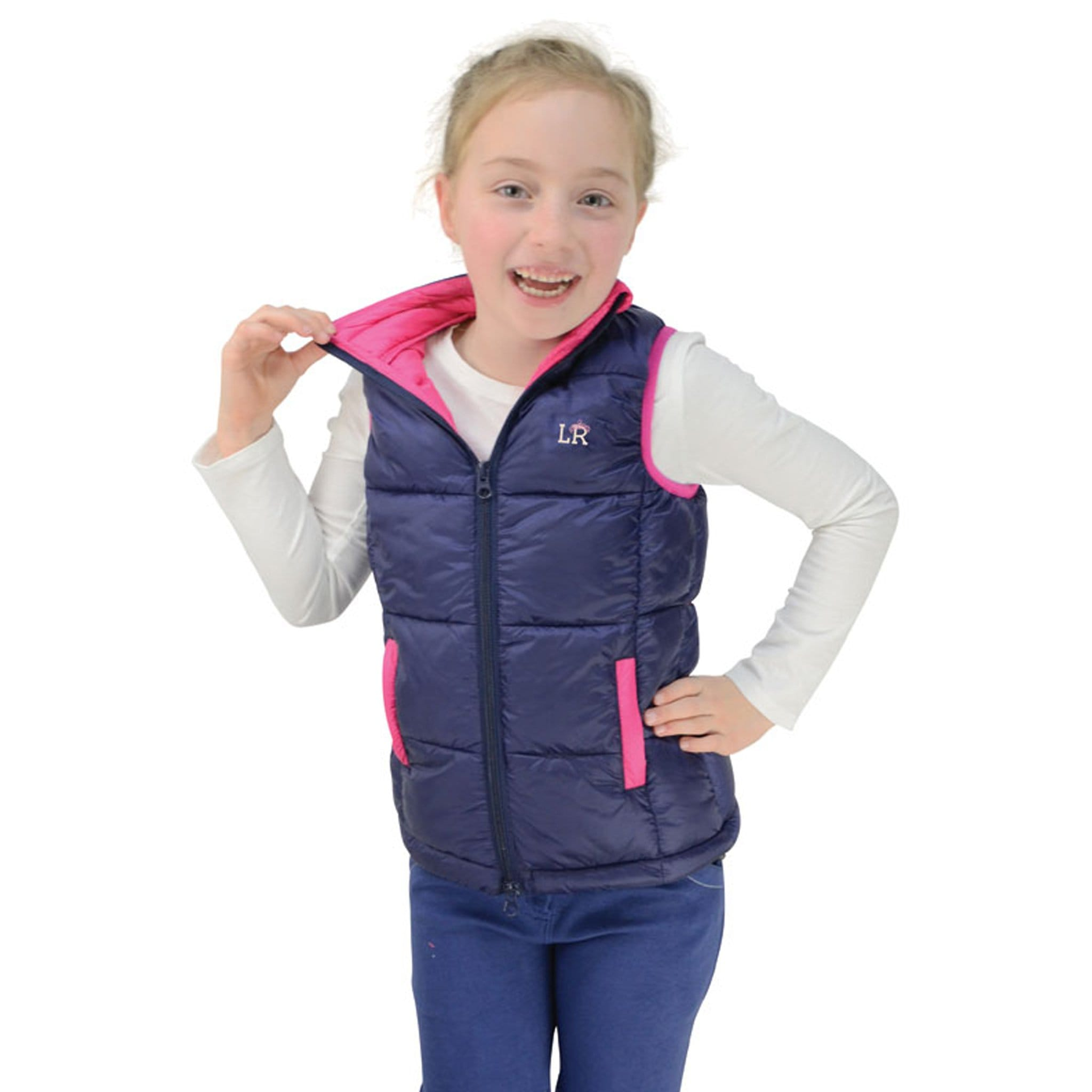 Hy Children's Little Rider Annabelle Padded Gilet Front Collar 22083.