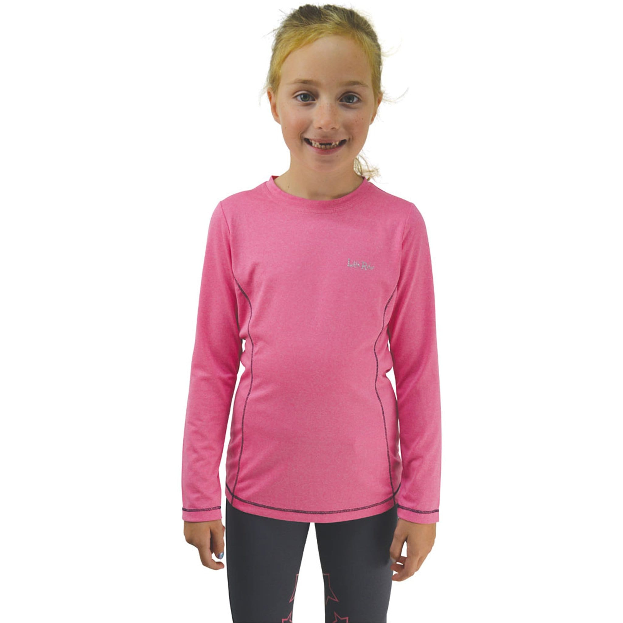Children's Hy Little Rider Stretch Base Layer Close Up Front View 20852.