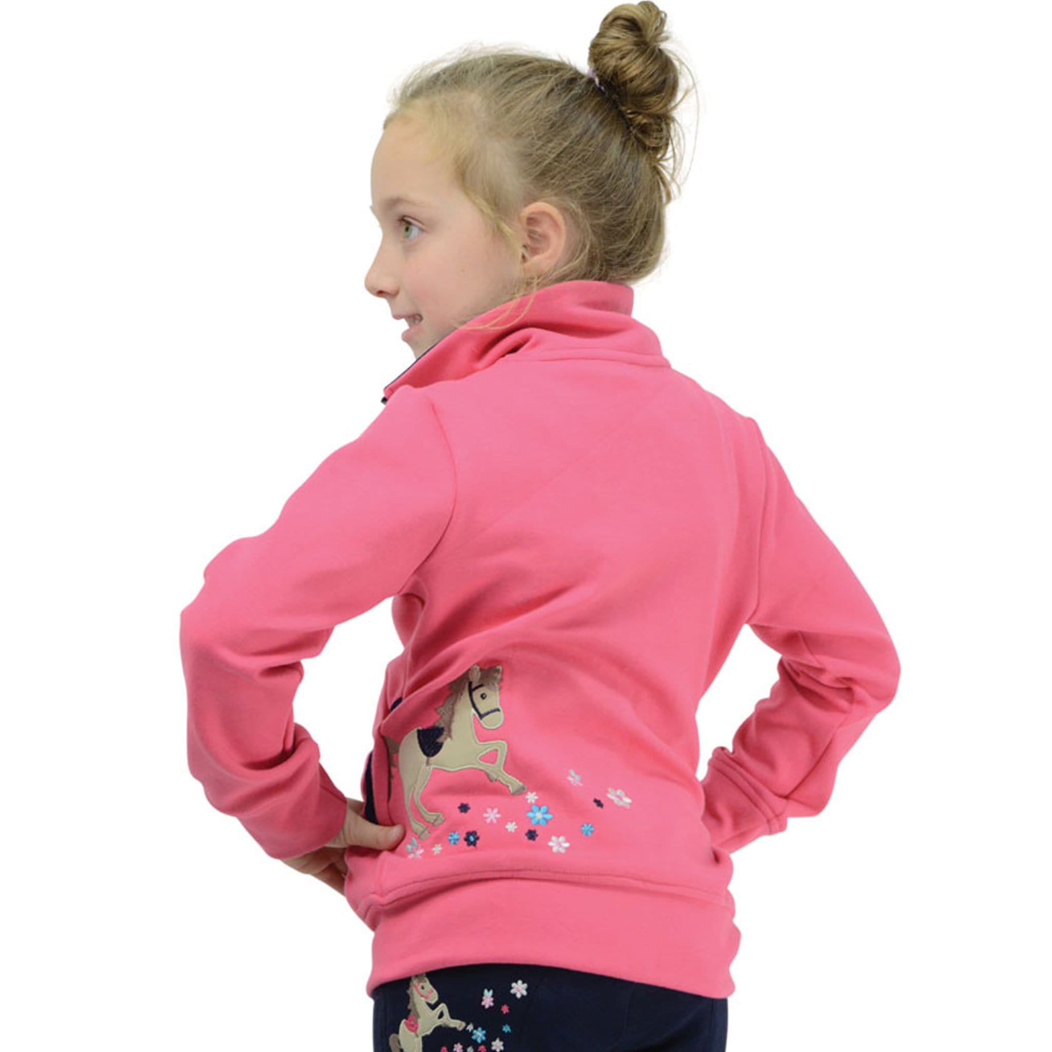 Hy Little Rider Felicity Flower Fleece Side And Back View 17418.