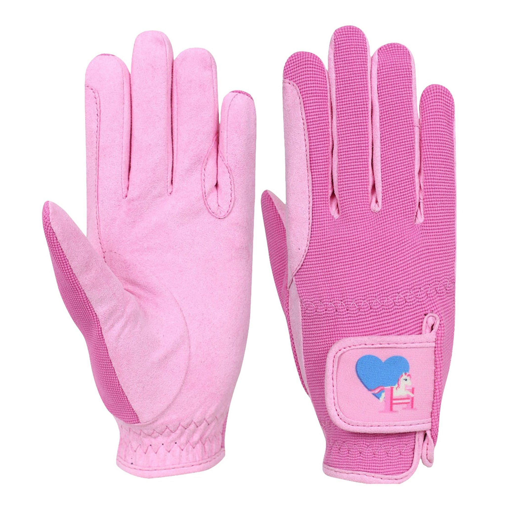 Hy Little Rider Little Show Pony Children's Riding Gloves 18456 Pink
