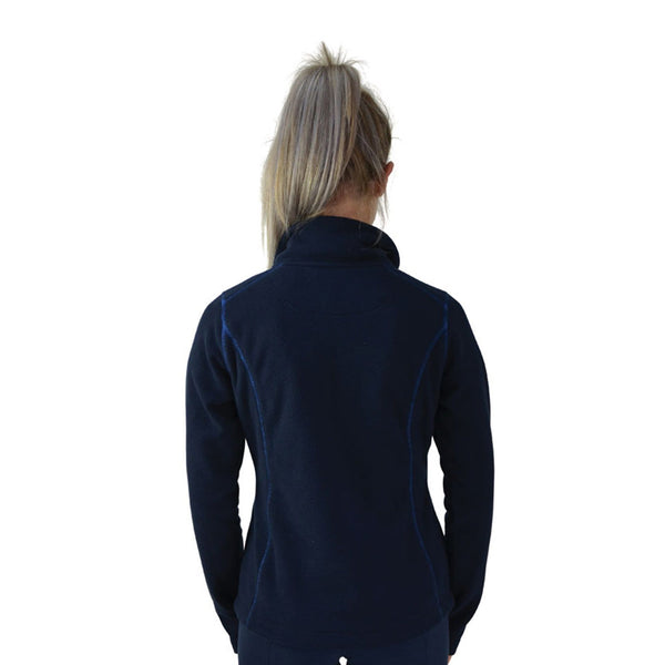 Hy Signature Fleece Jacket 22132 Back Navy and Blue