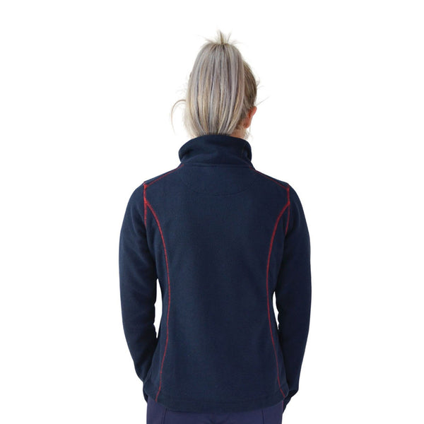 Hy Signature Fleece Jacket 22132 Back Navy and Red