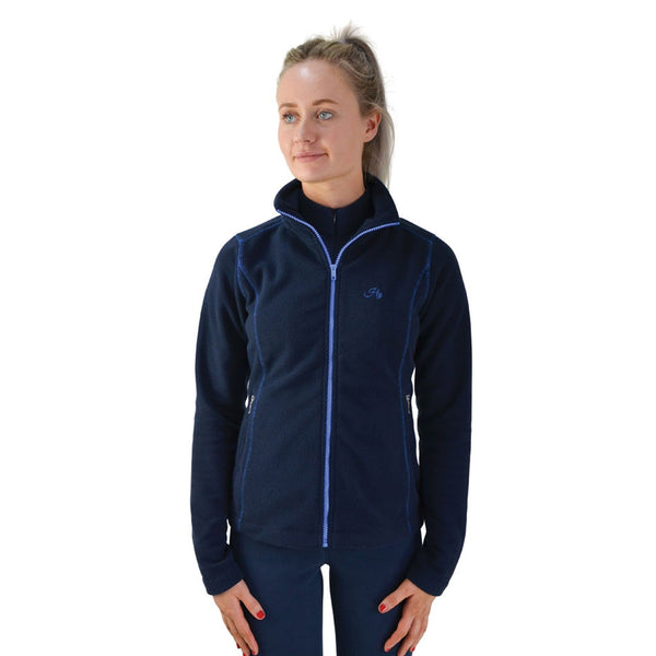 Hy Signature Fleece Jacket 22132 Front Navy and Blue