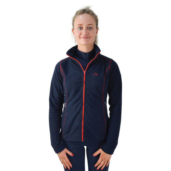 Hy Signature Fleece Jacket 22132 Front Navy and Red