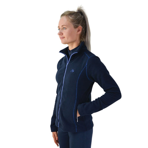 Hy Signature Fleece Jacket 22132 Side Navy and Blue