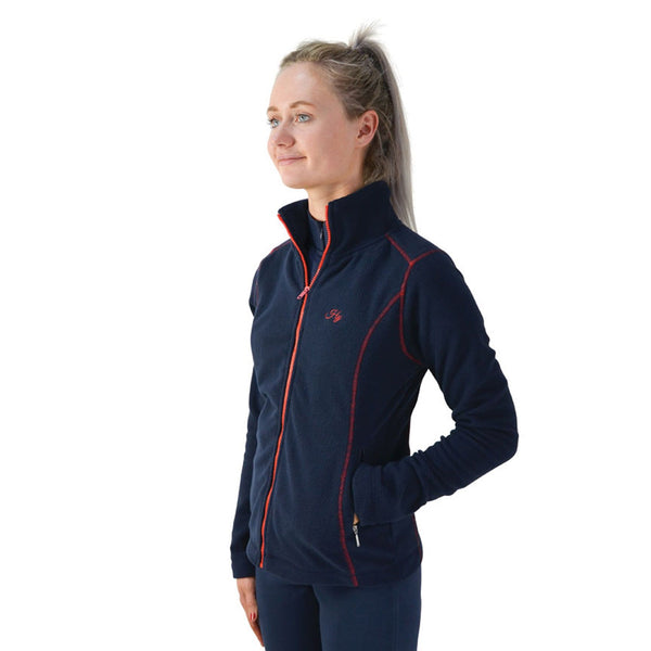 Hy Signature Fleece Jacket 22132 Side Navy and Red