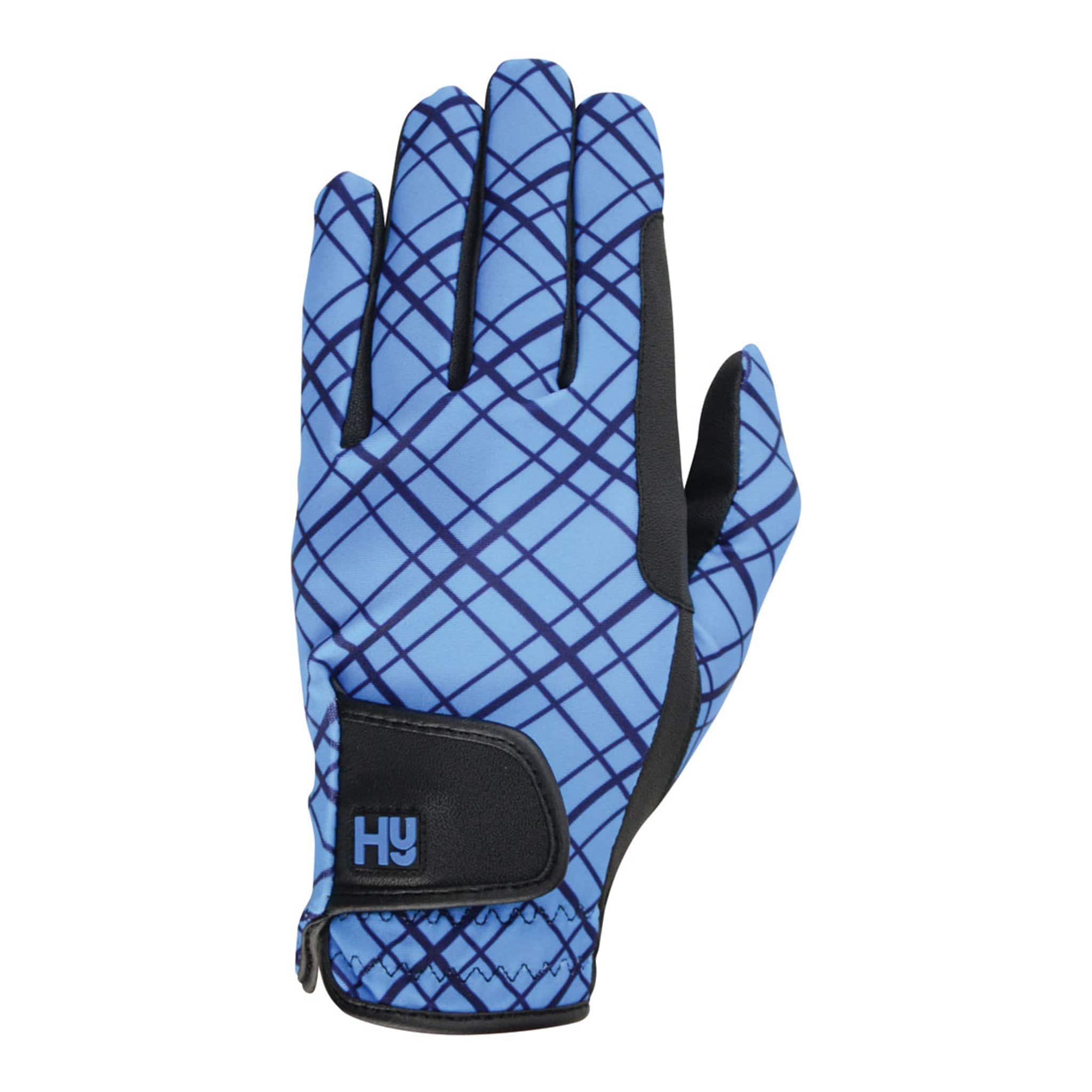 Hy5 Lightweight Printed Riding Gloves Black/Blue 24080.