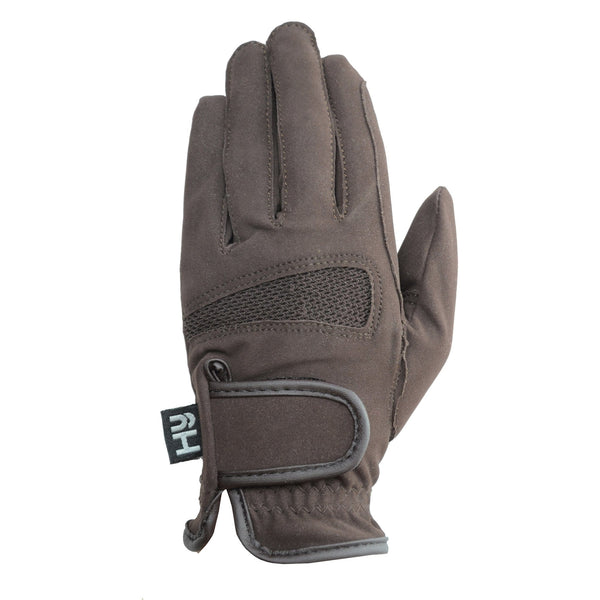 Hy5 Lightweight Competition Gloves Brown Back