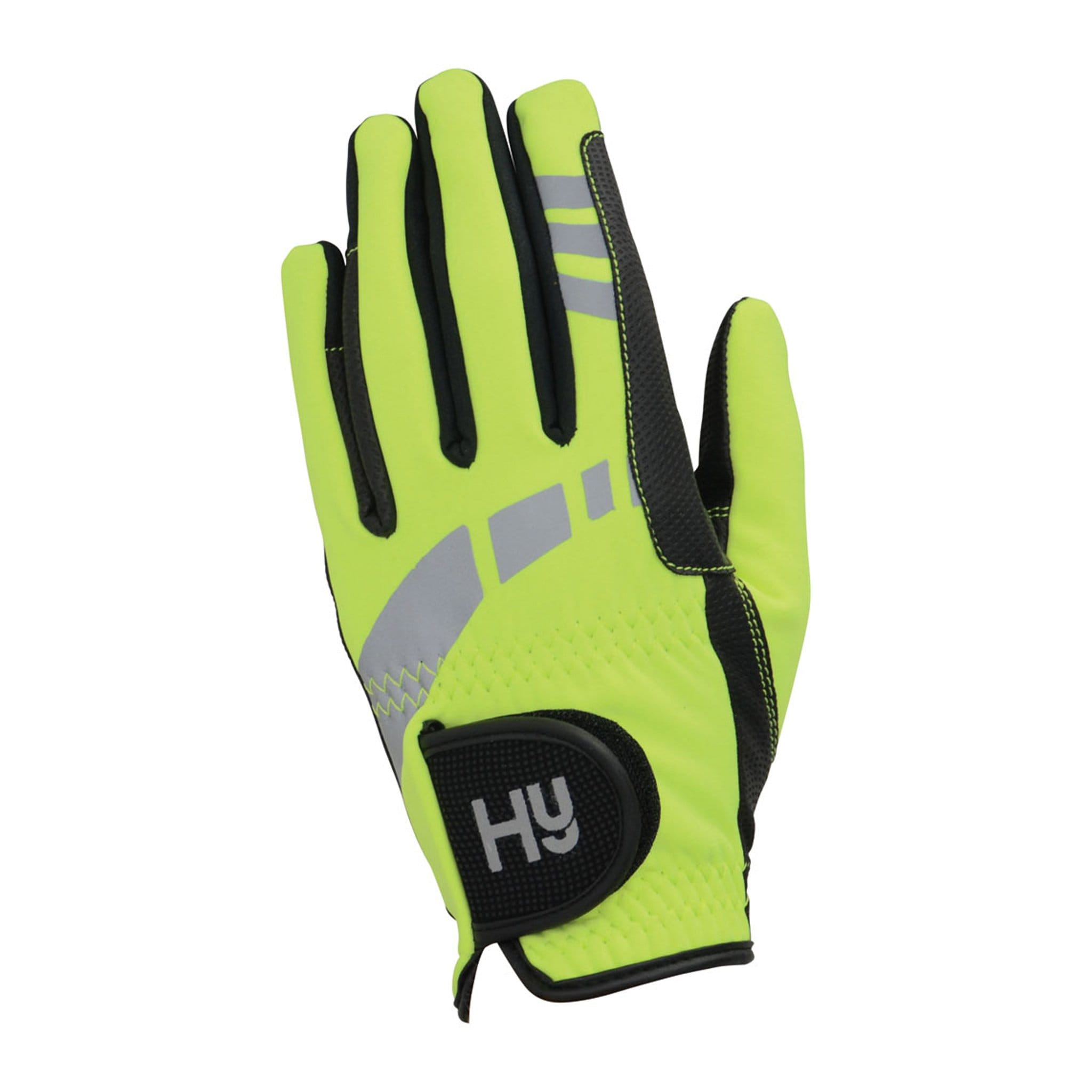 Hy5 Reflective Softshell Gloves Back Yellow 12753