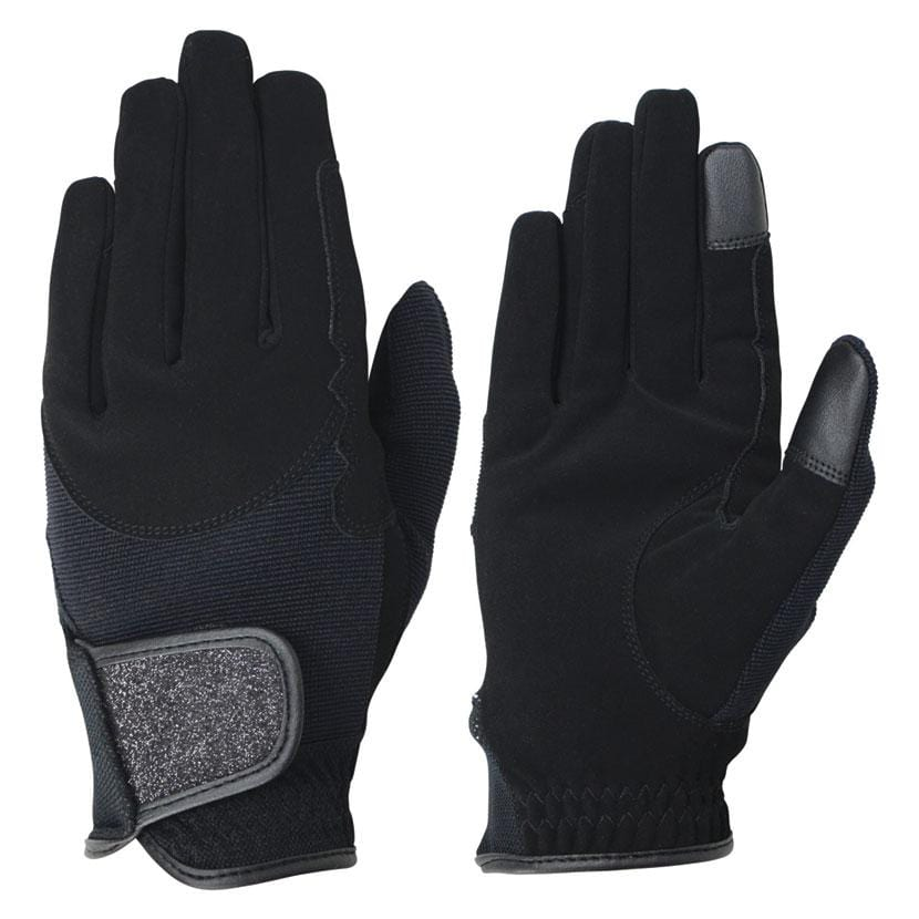 Hy5 Roka Riding Gloves - Black / Black / XS | EQUUS