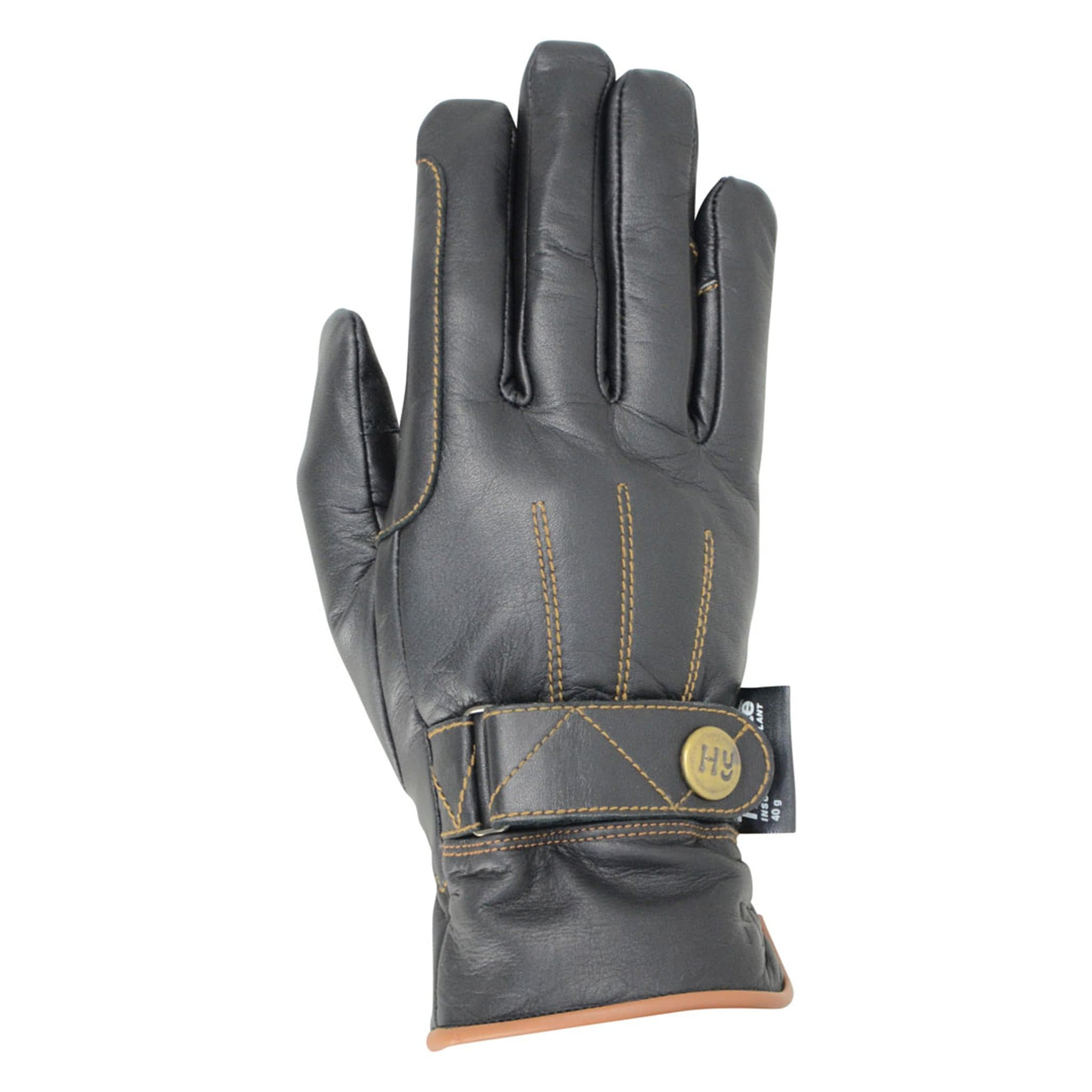 Hy5 Thinsulate Leather Winter Riding Gloves Black Back