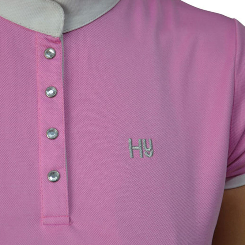 HyFASHION Alexandra Show Shirt Pink 21123 On Model Close Up