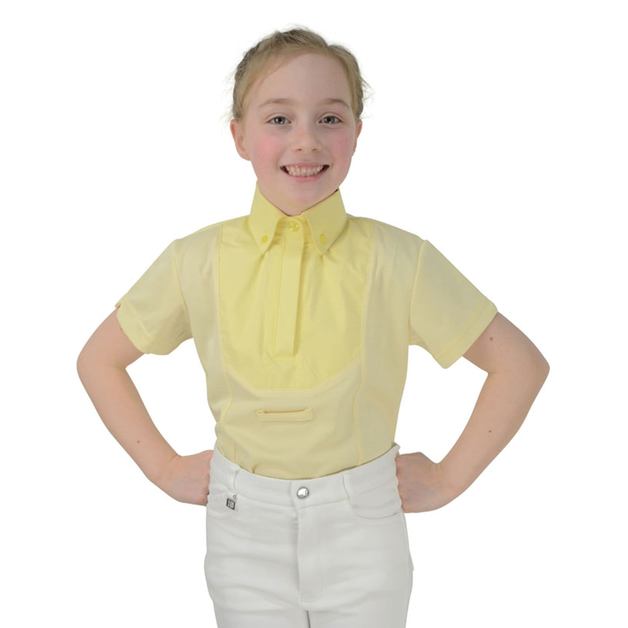 HyFASHION Children's Tilbury Short Sleeved Shirt 17264 Yellow On Child