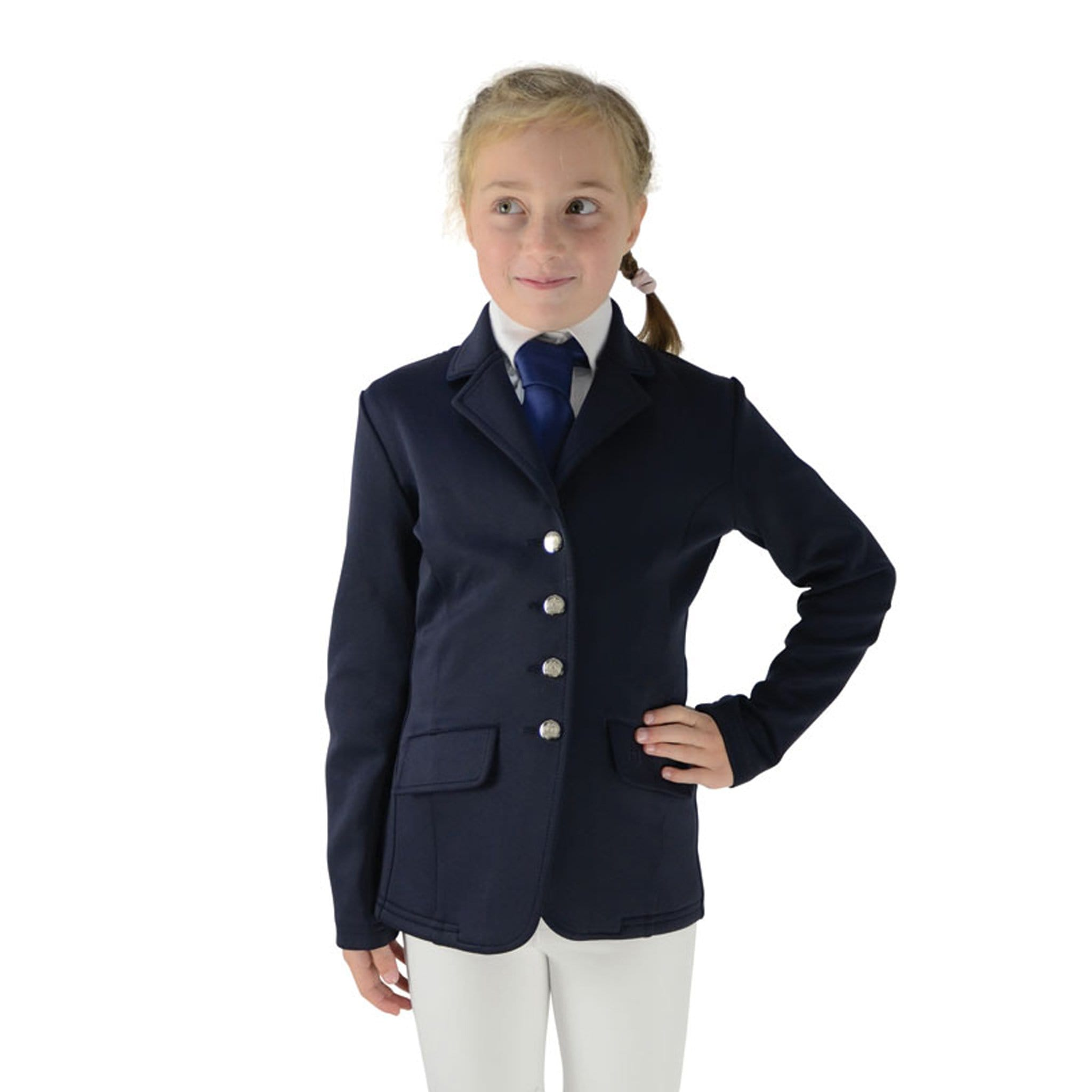 HyFASHION Children's Cotswold Competition Jacket 22365 Navy On Child Front