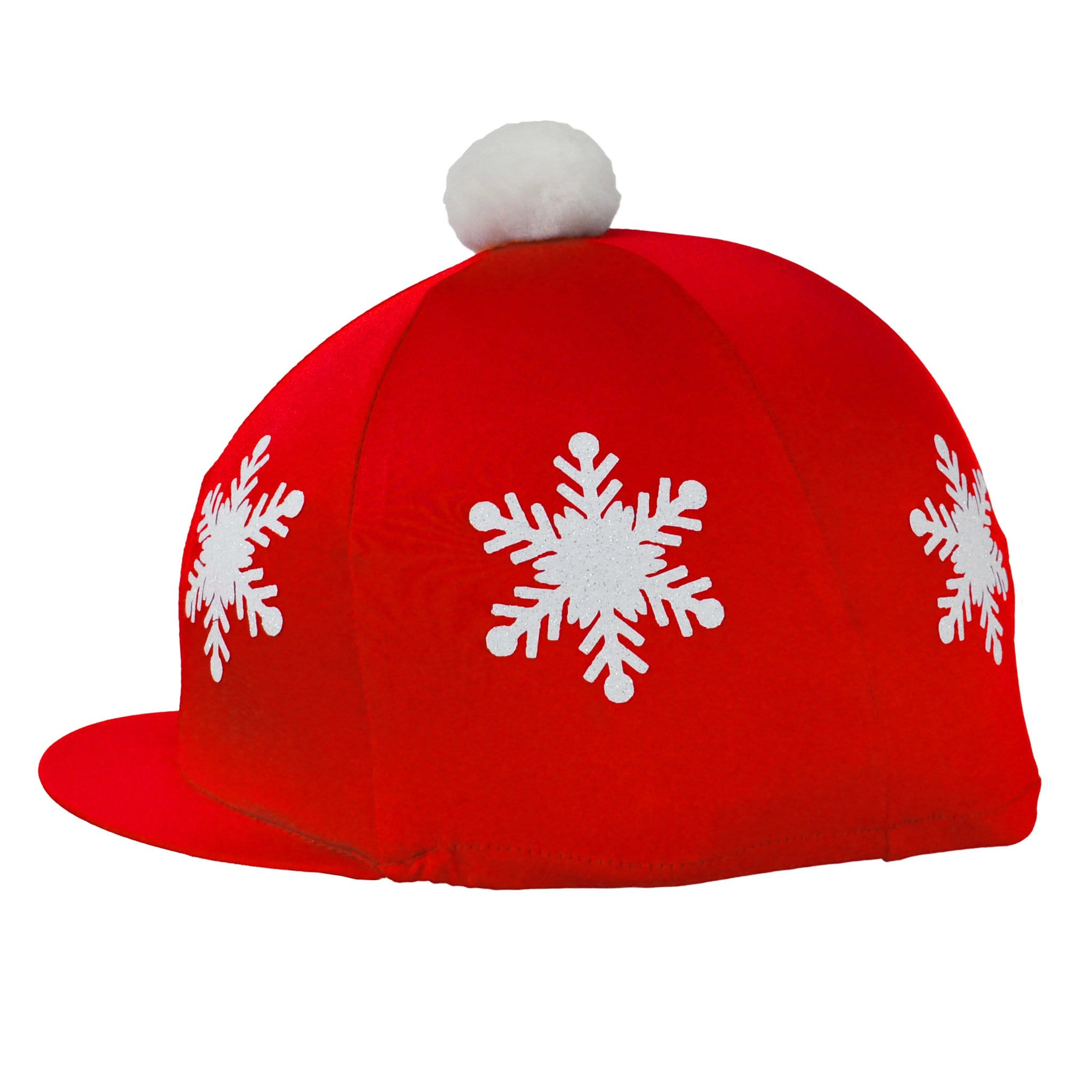 HyFASHION Christmas Snowflake Pom Pom Hat Cover