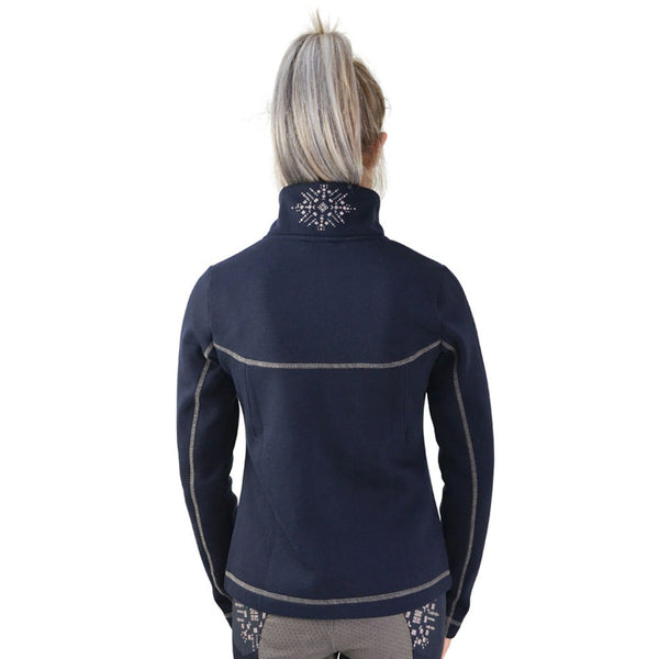 HyFASHION Kensington Fleece Jacket 20845 Navy Back