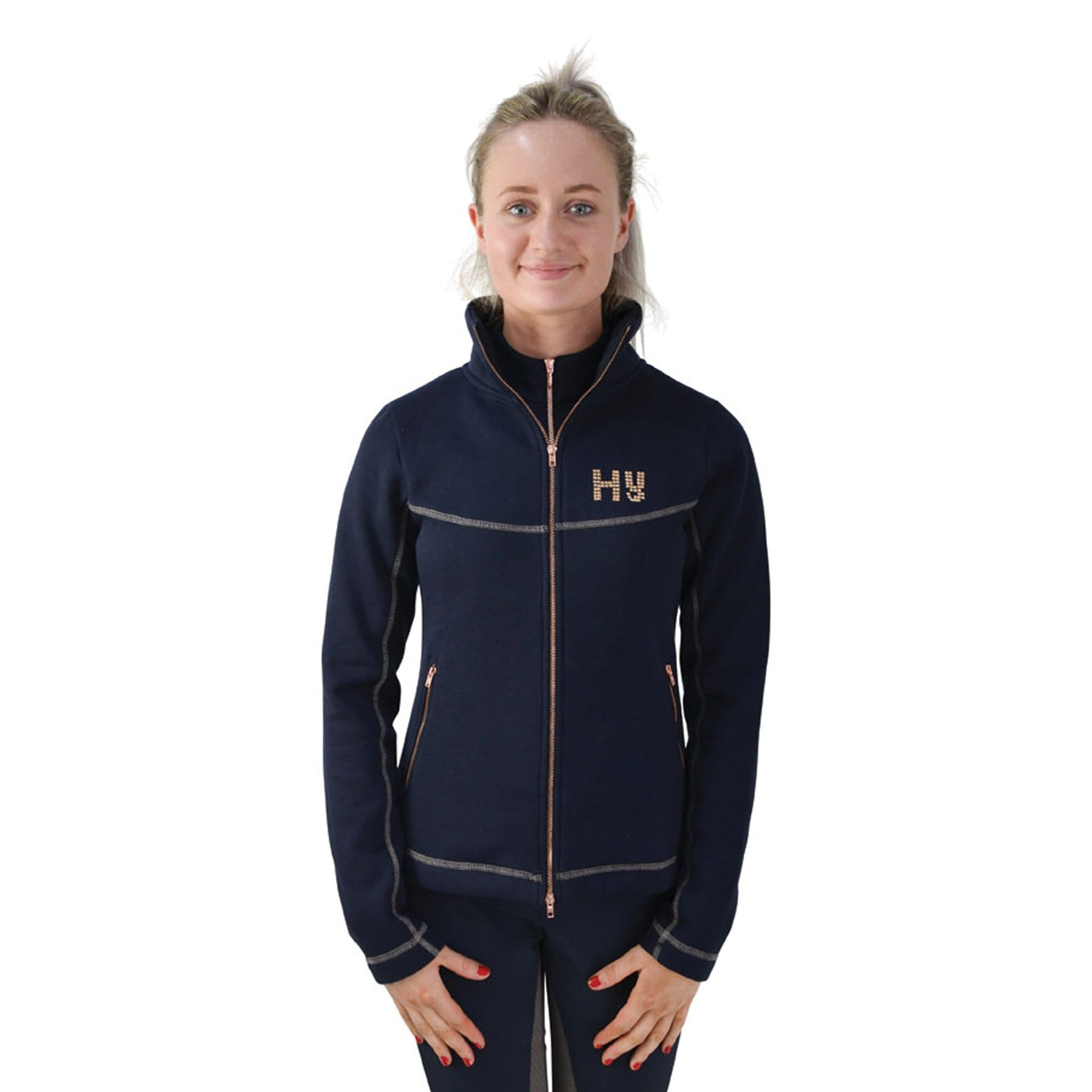 HyFASHION Kensington Fleece Jacket 20845 Navy Front