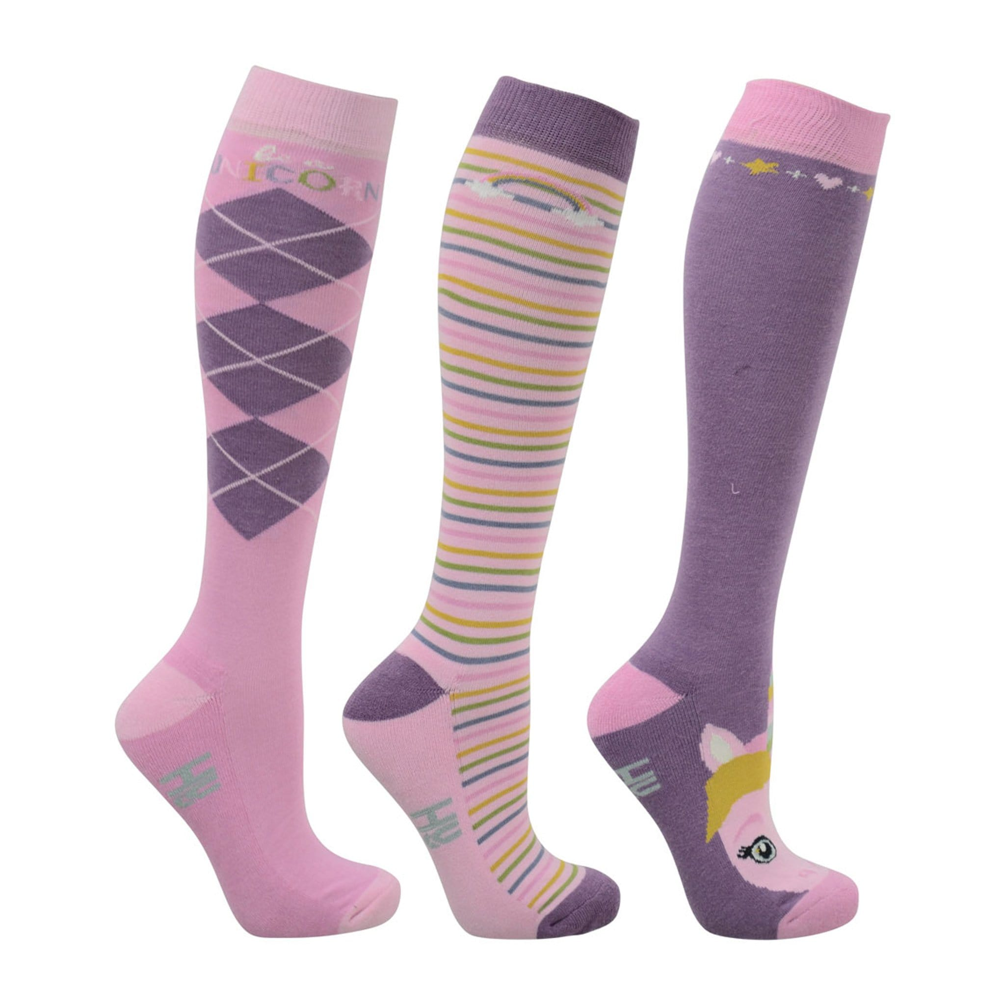 HyFASHION Little Unicorn Riding Socks 3 Pack Adult 20819.