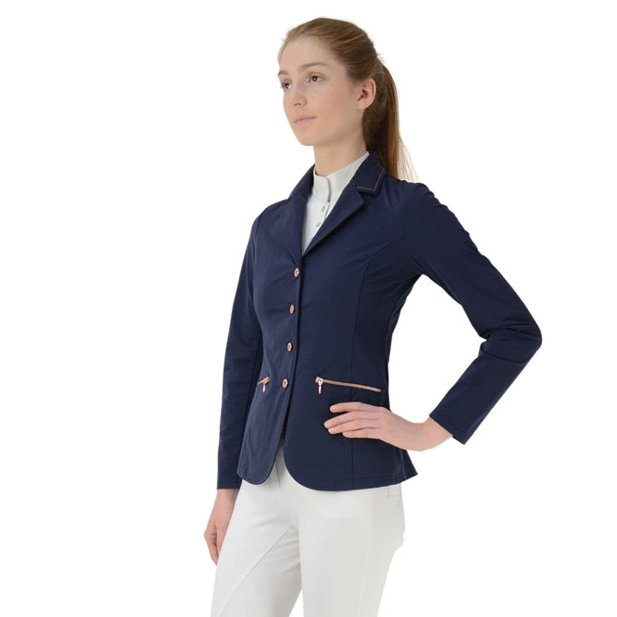HyFASHION Rosalind Rose Gold Show Jacket Front 24370.