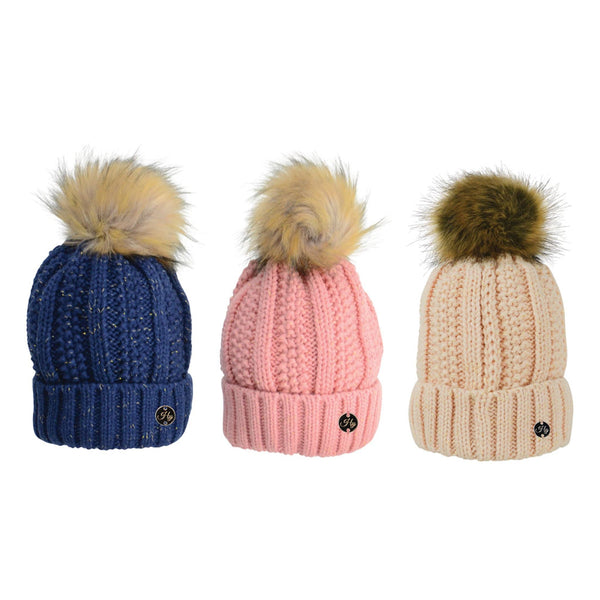 HyFASHION Aspen Metallic Bobble Hat All Colours 20288