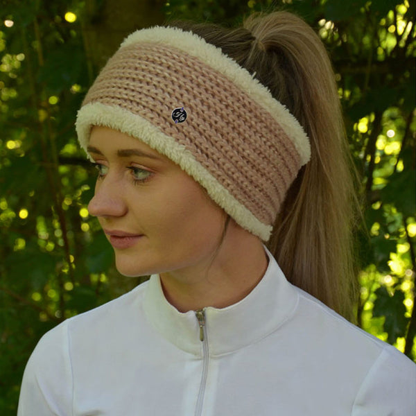 HyFASHION Avoriaz Metallic Headband in Pink Lifestyle View 20332