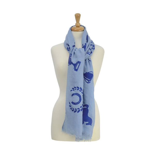 HyFASHION Ladies Balmoral Scarf Blue 15410