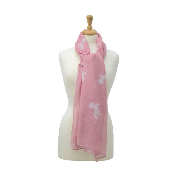 HyFASHION Ladies Belvoir Horse Print Scarf  Pink 15417