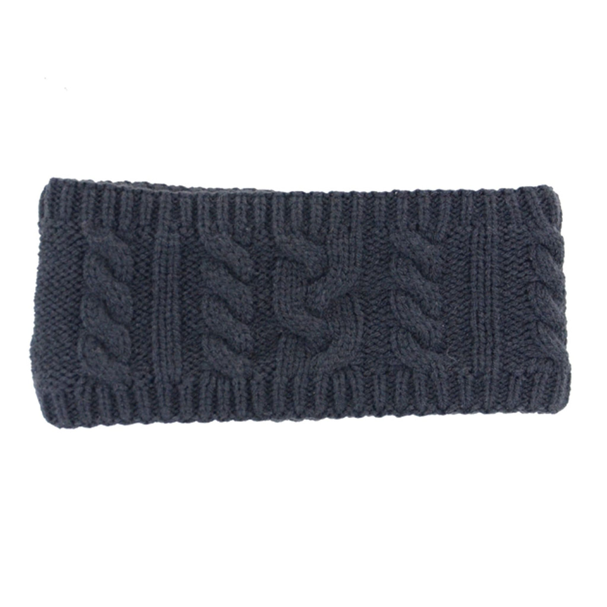 HyFASHION Meribel Cable Knit Headband Navy 15401.