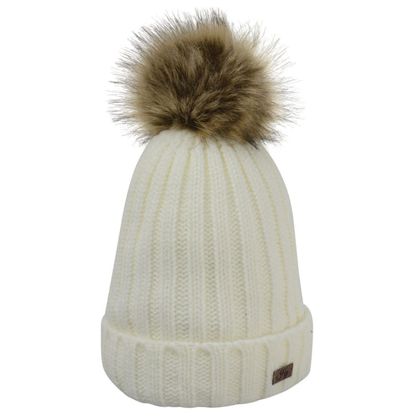 HyFASHION Turin Bobble Hat in White 20293