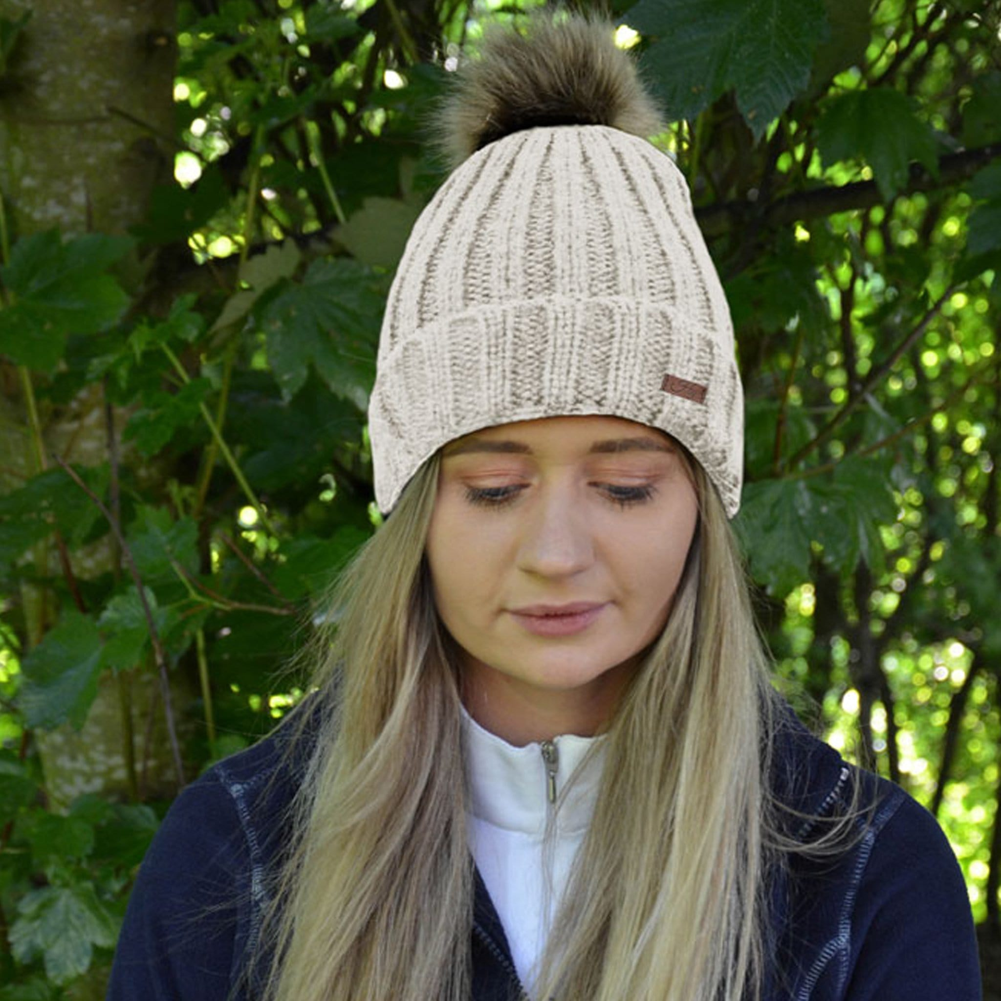 HyFASHION Turin Bobble Hat in White Lifestyle 20293