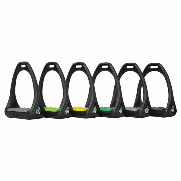 HyJUMP Compositi Reflex Stirrups with Coloured Treads 11713