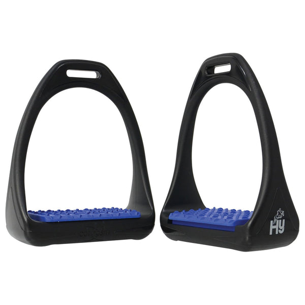 HyJUMP Compositi Reflex Stirrups with Coloured Treads in Navy 11713