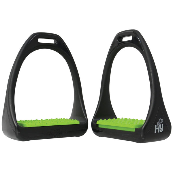 HyJUMP Compositi Reflex Stirrups with Coloured Treads in Light Green 11713