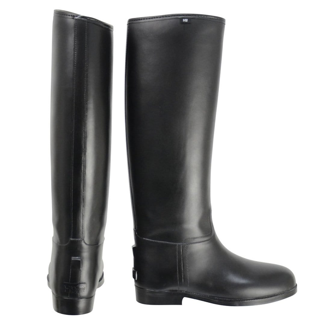HyLAND Children's Long Greenland Waterproof Riding Boots Side And Front View 20228.