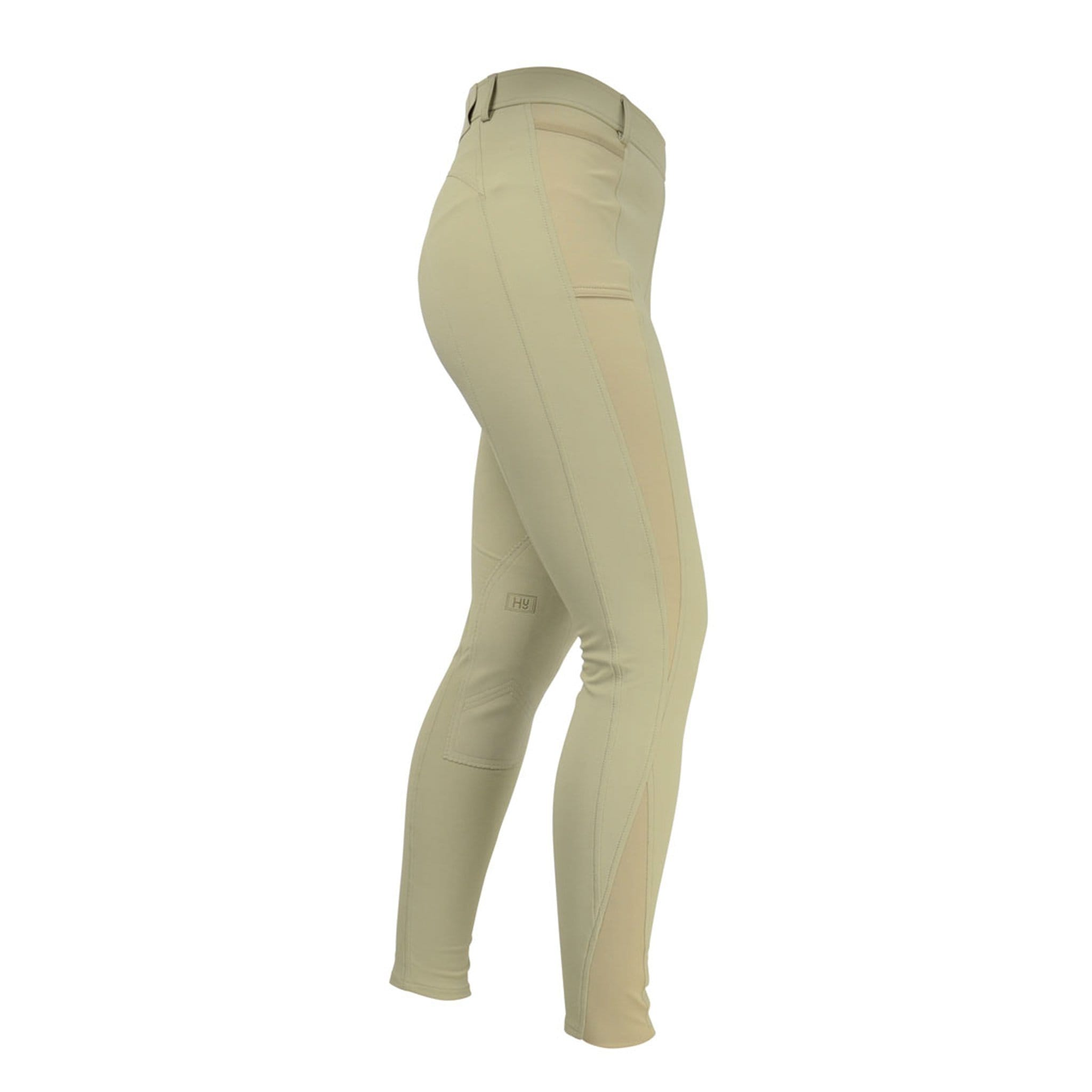 HyPERFORMANCE Motion Alos Knee Patch Riding Tights 14890 Beige Right SIde