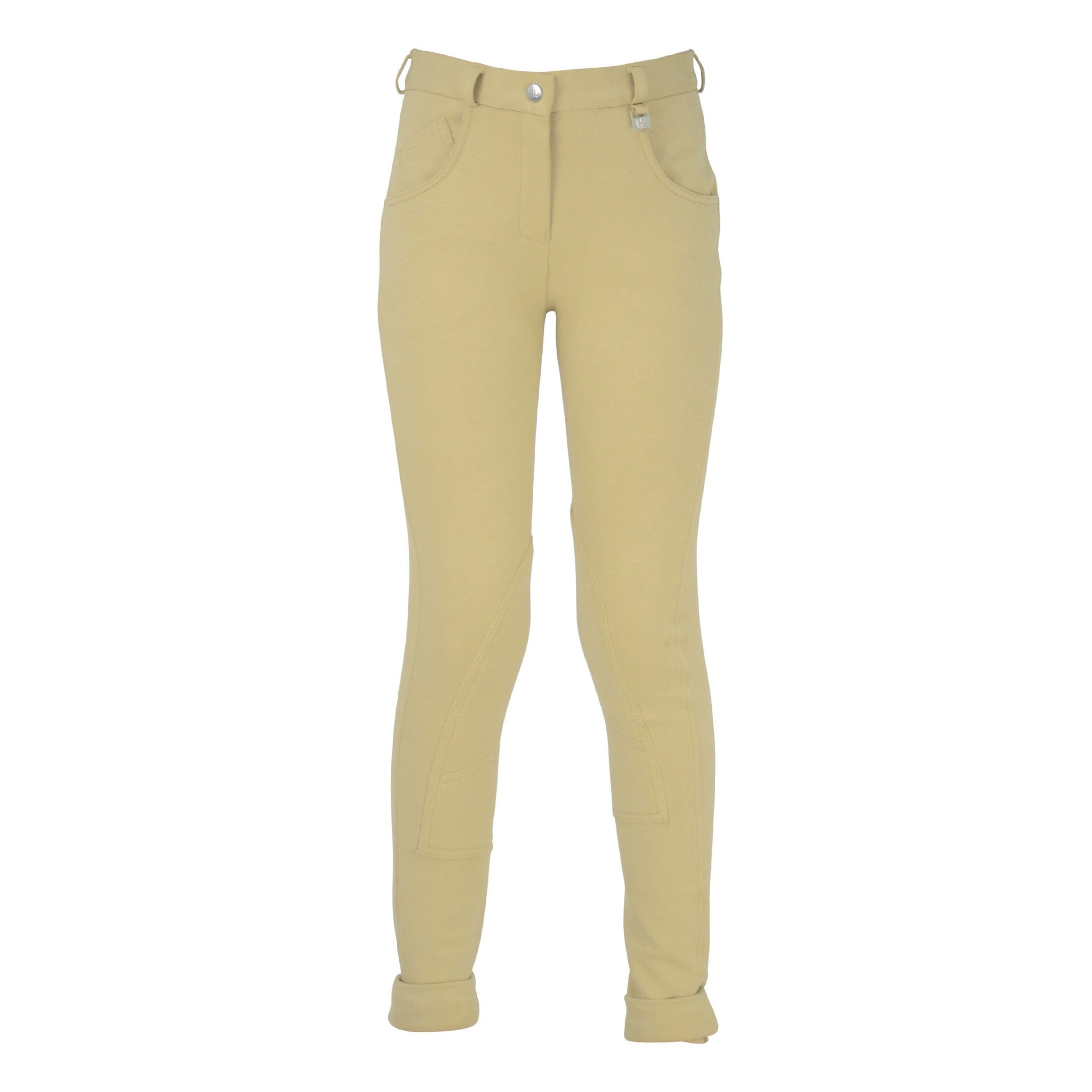 HyPerformance Children's Burton Full Seat Jodhpurs in Beige Front View 11188