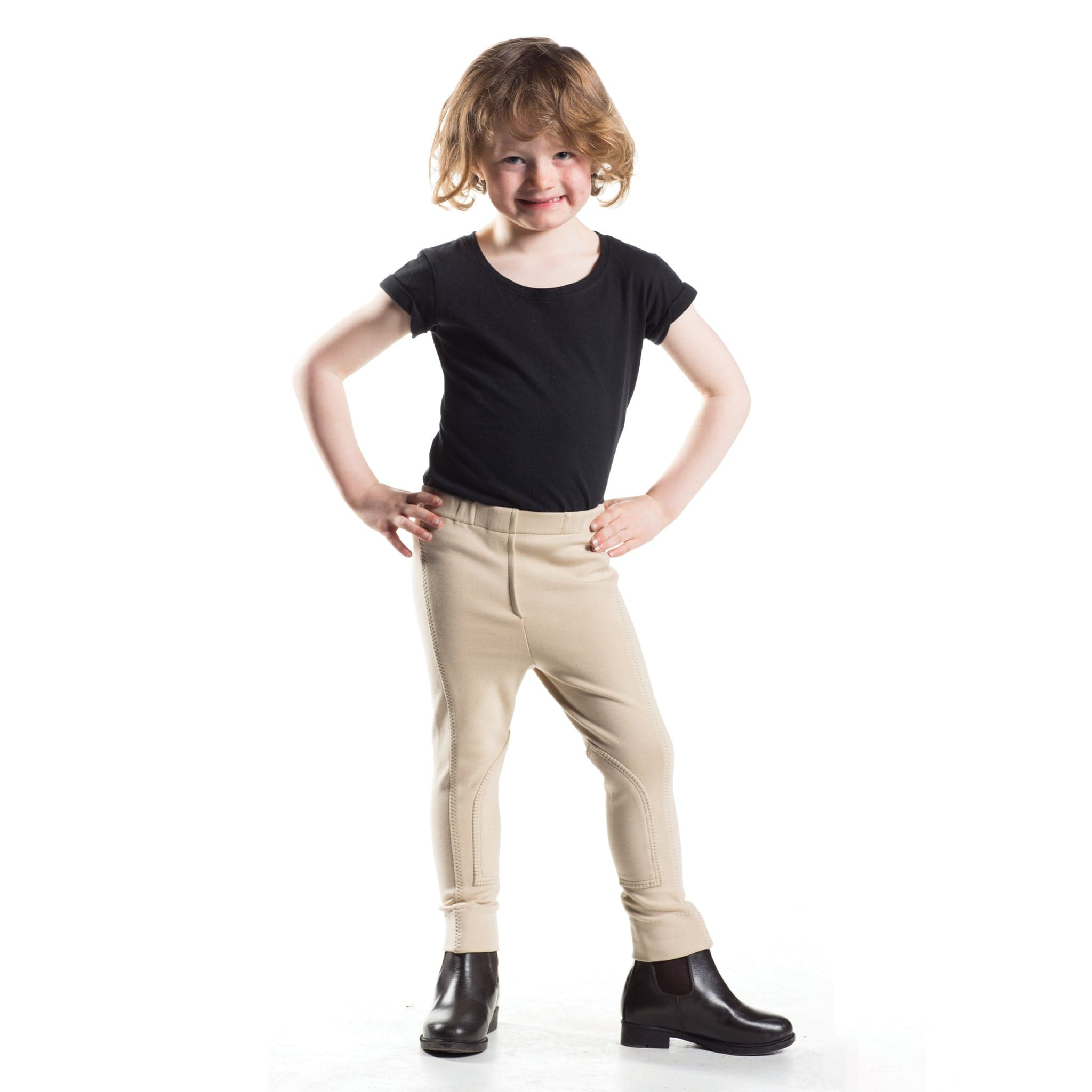 HyPerformance Zeddy Tots Jodhpurs in Beige Front View 5479