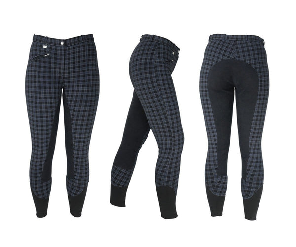 HyPerformance Harby Ladies Breeches in Black Check 10300