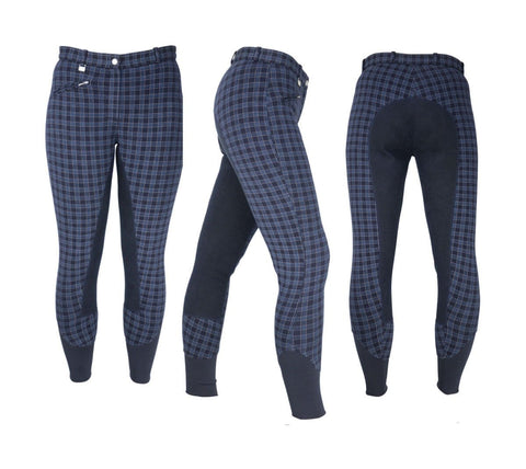 HyPerformance Harby Ladies Breeches in Navy Check 10300