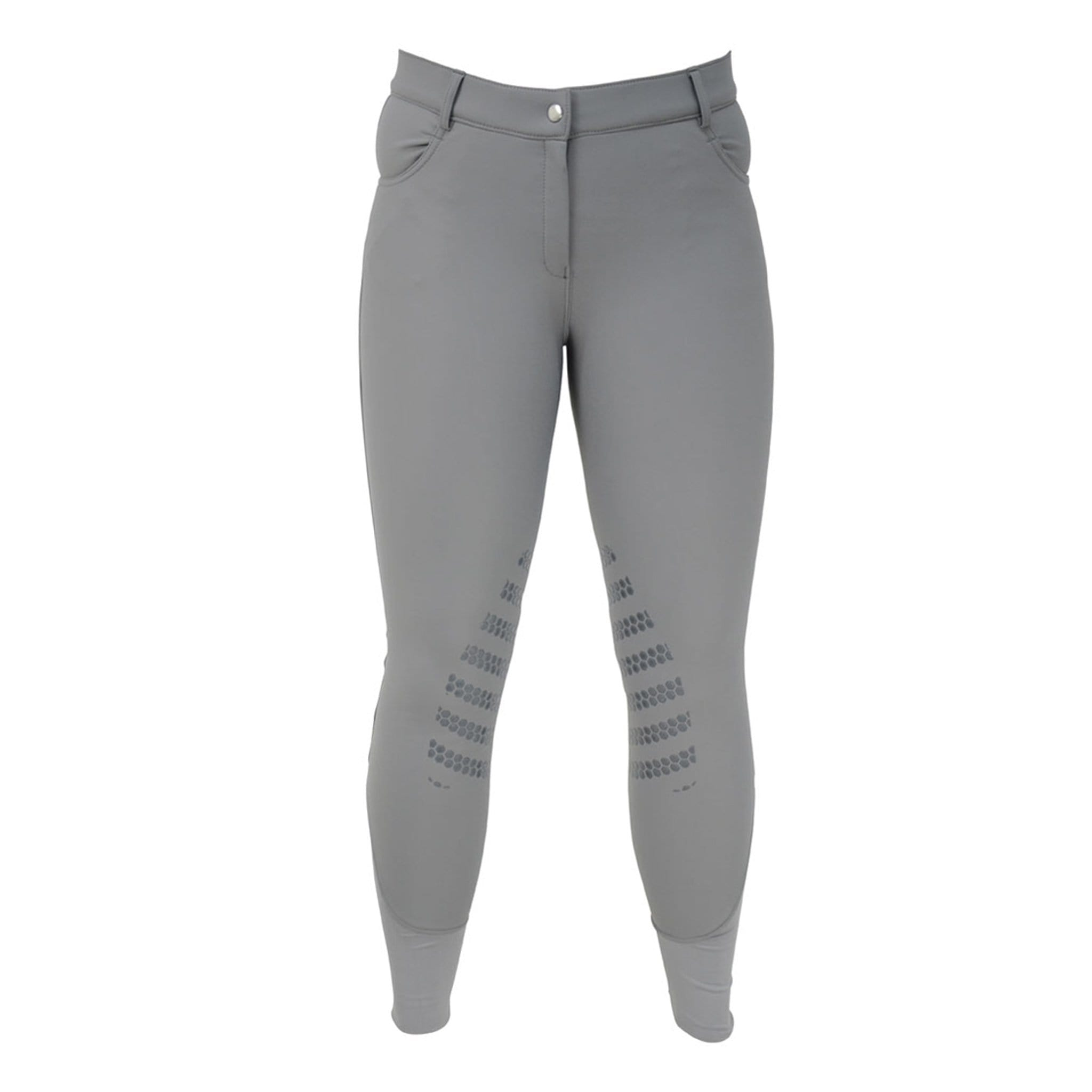 HyPerformance Thermal Softshell Breeches Grey Front View 13995