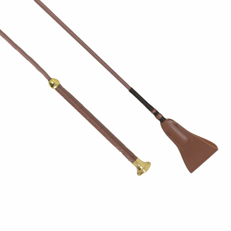 HySCHOOL Faux Leather Riding Whip Top and Handle