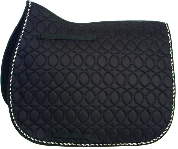 HySPEED Deluxe Saddle Pad with Cord Binding Black 1754