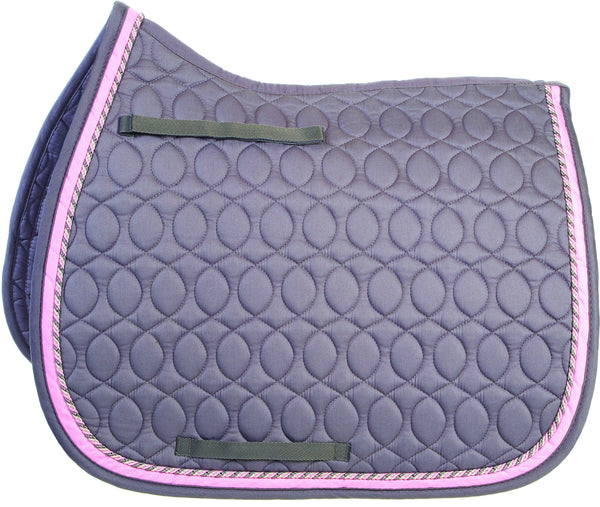 HySPEED Deluxe Saddle Pad with Cord Binding Grey 1756
