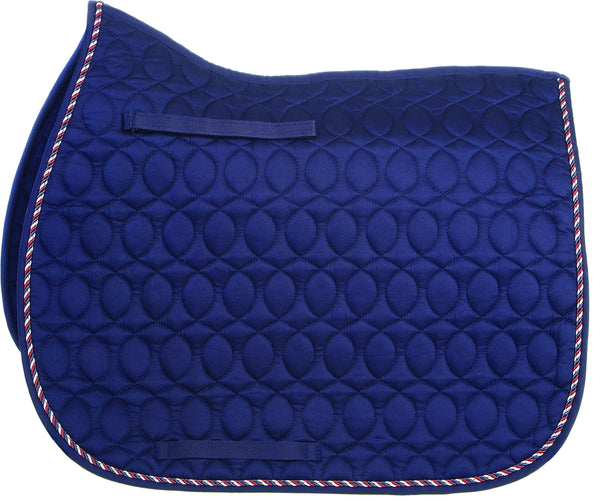HySPEED Deluxe Saddle Pad with Cord Binding Navy 1752