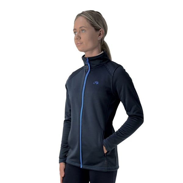 Hy Signature Softshell Jacket 22099 Navy and Blue Front